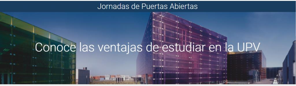 Jornada Portes Obertes UPV