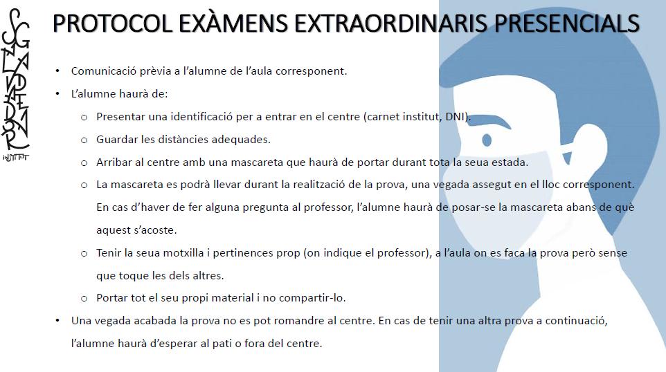 Protocol examen extraord